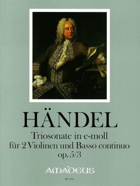 Trio sonata E minor op. 5/3