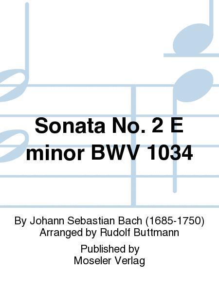 Sonata No. 2 E minor BWV 1034