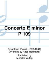 Concerto E minor P 109
