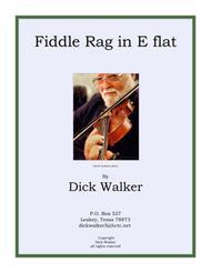 Fiddle Rag in E flat.