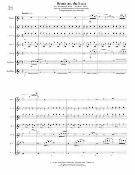 Beauty And The Beast (for Flute Choir)
