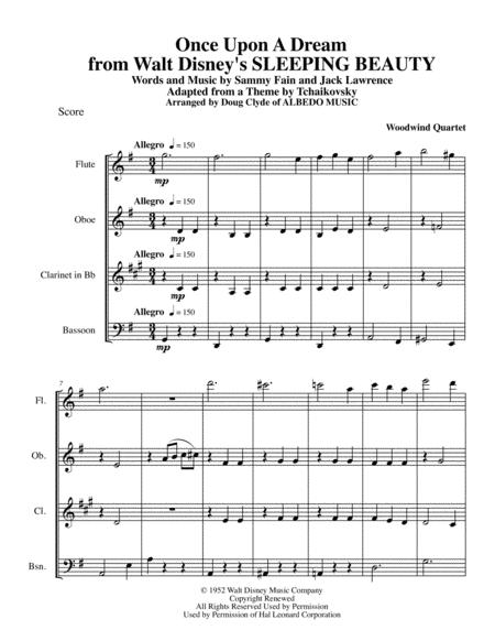 Once Upon A Dream from Walt Disney's SLEEPING BEAUTY for Woodwind Quartet