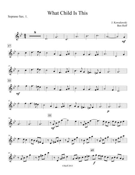 What Child Is This? Sax Quartet
