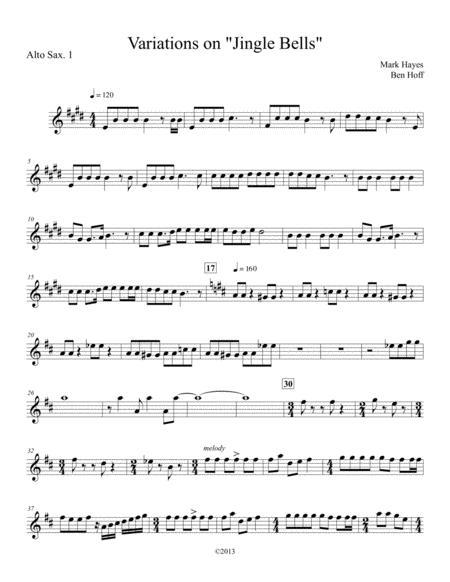 Jingle Bells for Sax Quartet