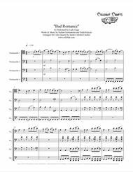 Bad Romance - Cello Quartet - Lady Gaga arr. Cellobat - Recording Available!