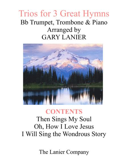 Trios for 3 GREAT HYMNS (Bb Trumpet & Trombone with Piano and Parts)