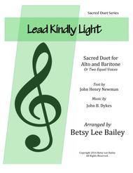 Lead Kindly Light Duet for Alto and Baritone with Piano Accompaniment
