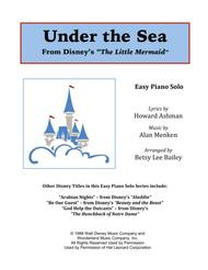 Under The Sea - Easy Piano Solo