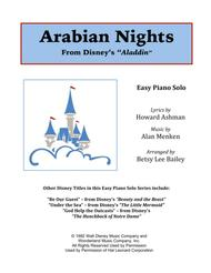 Arabian Nights - Easy Piano Solo
