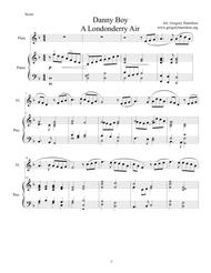Danny Boy - A Londonderry Air for Flute (intemmediate) and Piano