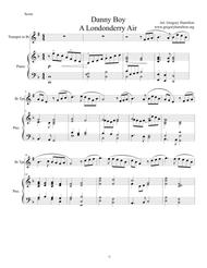 Danny Boy - Londonderry Air for Intermmediate Bb Trumpet and Piano