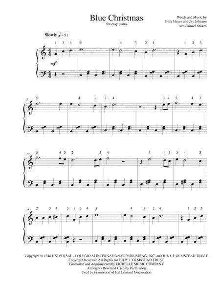 Blue Christmas - for easy piano