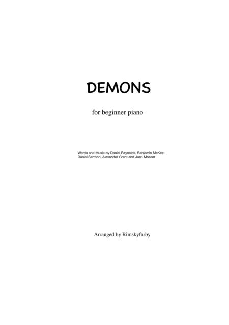Demons for easy piano