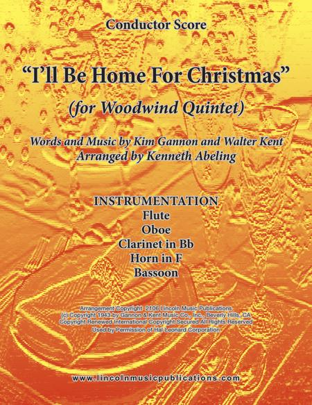 I'll Be Home For Christmas (for Woodwind Quintet)