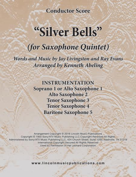 Silver Bells (for Saxophone Quintet SATTB or AATTB)
