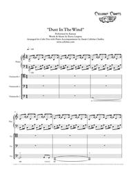 Dust In The Wind - Cello Trio with Piano - Kansas arr. Cellobat - Recording Available!