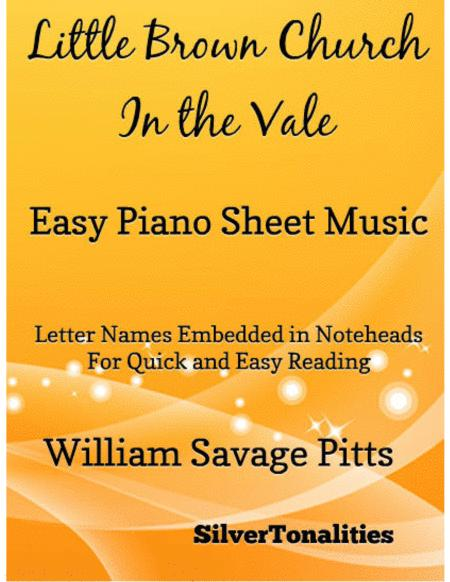 Little Brown Church in the Vale Easy Piano Sheet Music