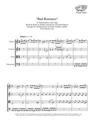 Bad Romance - String Quartet - Lady Gaga arr. Cellobat - Recording Available!