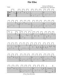 Für Elise Ludwig Van Beethoven Guitar Tablature