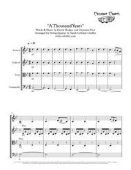 A Thousand Years (Twilight) - String Quartet - Christina Perri arr. Cellobat - Recording Available!
