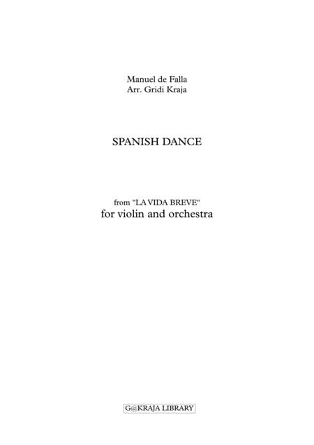 Spanish Dance for violin and orchestra(Full Score & Parts)