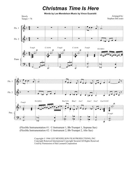 Christmas Time Is Here (Duet for Flexible Treble Instruments)