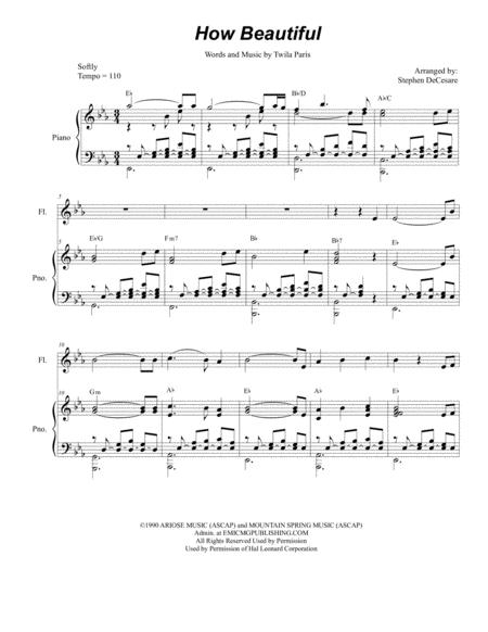 How Beautiful (Duet for Flute and Bb-Clarinet)