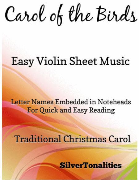 Carol of the Birds Easy Violin Sheet Music