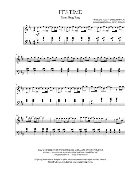 It's Time (Short Piano Solo) - Imagine Dragons