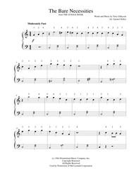 The Bare Necessities  from THE JUNGLE BOOK - for easy piano