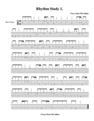 Rhythm Study No. 1 Bass Guitar Tablature
