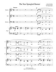 The Star-Spangled Banner - SAB choir with piano accompaniment