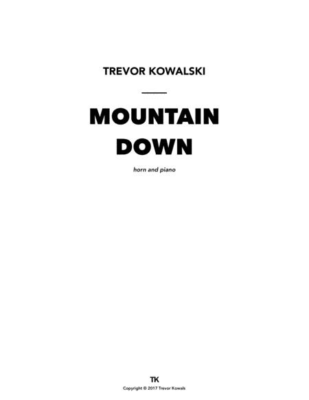 Mountain Down (F horn & piano)