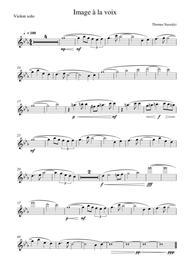Image à la Voix/Solo Violin PART