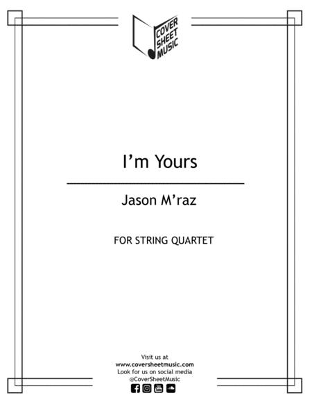 Download I'm Yours String Quartet Sheet Music By Jason Mraz
