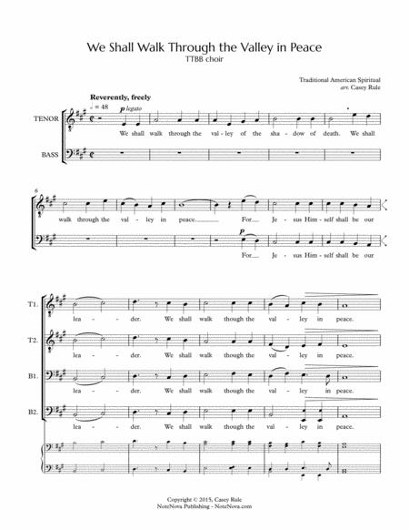 We Shall Walk Through the Valley in Peace (TTBB) - arr. Casey Rule