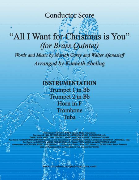 All I Want For Christmas Is You (for Brass Quintet)