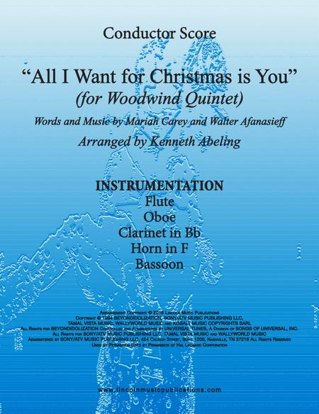 All I Want For Christmas Is You (for Woodwind Quintet)