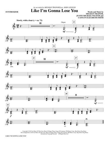 Like I'm Gonna Lose You - Synthesizer