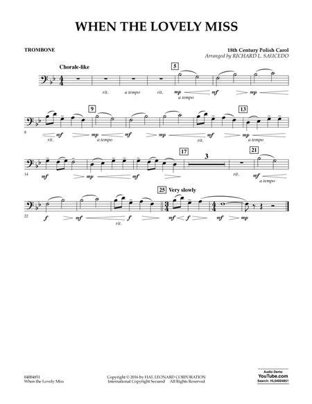 When the Lovely Miss (18th Century Polish Carol) - Trombone