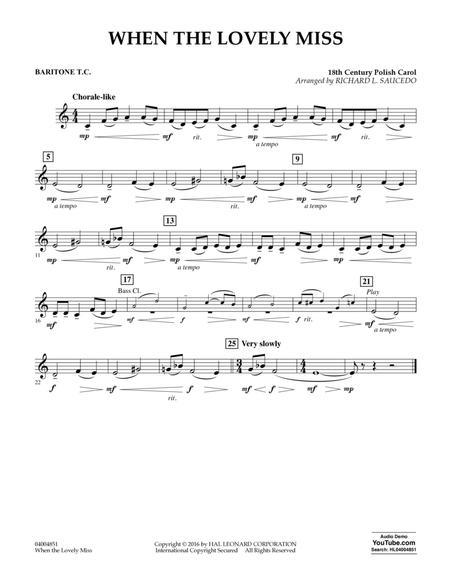 When the Lovely Miss (18th Century Polish Carol) - Baritone T.C.