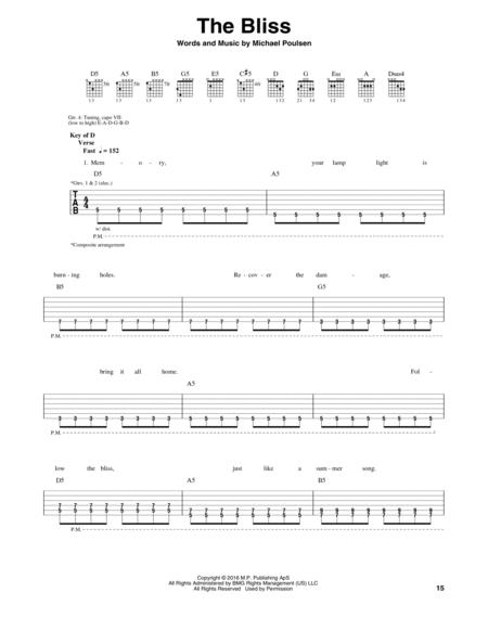 Download The Bliss Sheet Music By Volbeat - Sheet Music Plus