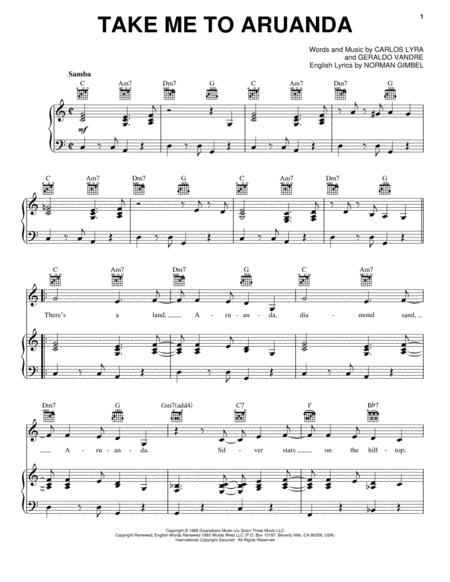 Download Take Me To Aruanda Sheet Music By Astrud Gilberto Sheet