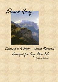 Grieg Piano Concerto - Second Movement - Piano Solo