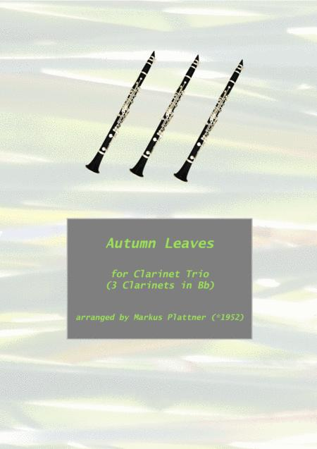 Autumn Leaves for 3 Clarinets in Bb