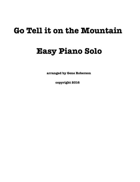 Go Tell it on the Mountain  Easy Piano Entry Arrangement contest 2016
