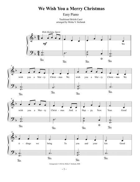 We Wish You A Merry Christmas Piano.We Wish You A Merry Christmas Easy Piano By Traditional