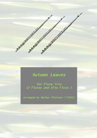 Autumn Leaves for Flute Trio