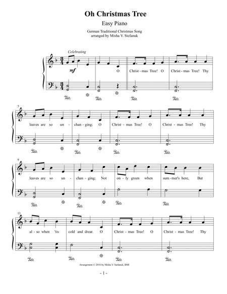 Oh Christmas Tree Sheet Music.Download Oh Christmas Tree Easy Piano Sheet Music By