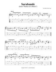 "Sarabande (from ""Partita in A Minor"")"
